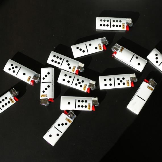 """Création de la série Dominos pour BIC, Contenu de la page """"Agence de communication""""."""
