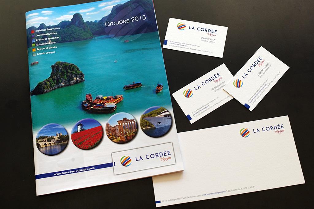Création et fabrication du logo et outils de communication La cordée.