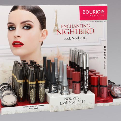 Présentoir Look de Noel Bourjois