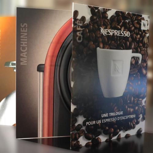 """Invitation trilogie Nespresso. Contenu de la page """"Agence de communication""""."""