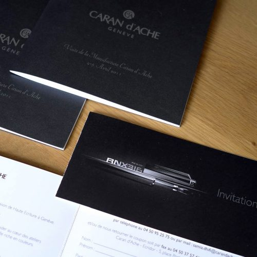Invitation Caran d'Ache