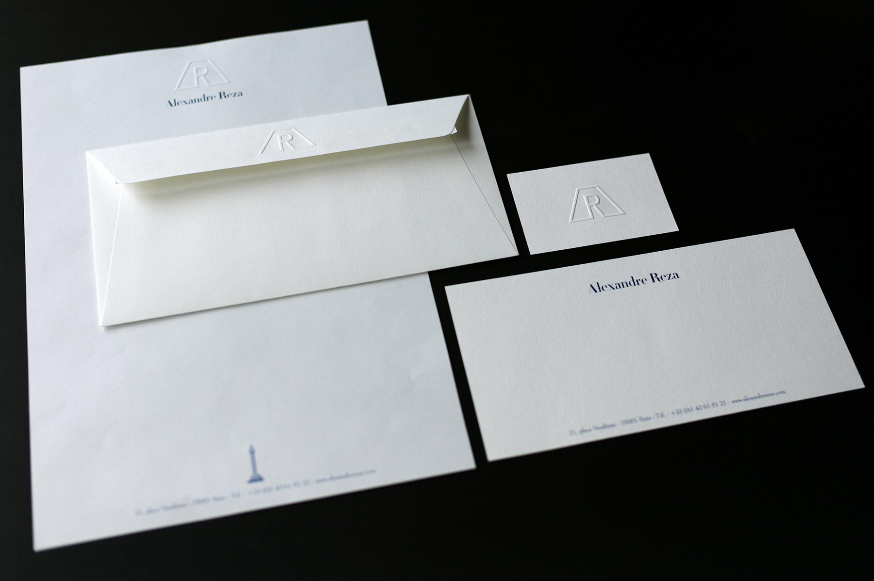 Création et fabrication de la papeterie Alexandre Reza