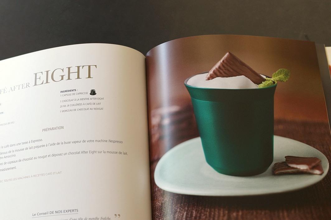Création et fabrication du livre de recettes Dégustations Gourmandes pour Nespresso.