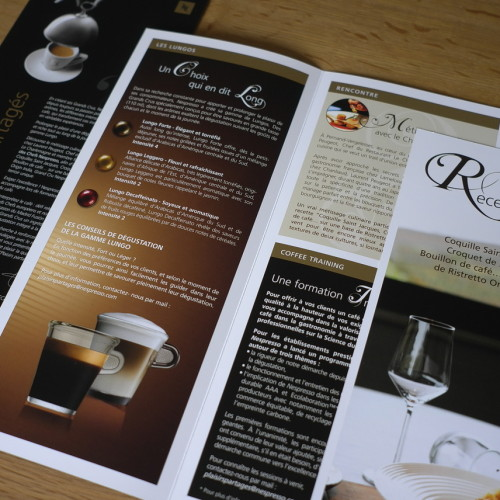 Conception, réalisation et fabrication de la Newsletter Plaisirs partagés pour Nespresso
