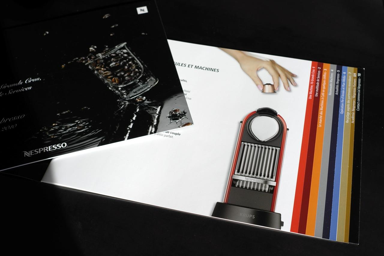 Création et fabrication de la brochure Grands Crus Nespresso.