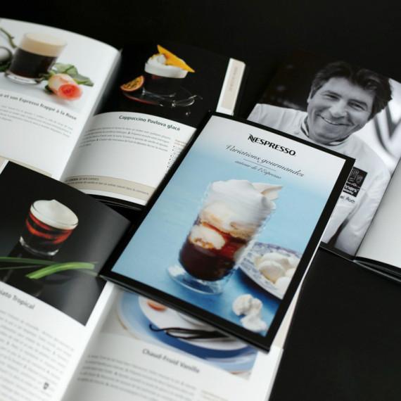 Brochure de recettes Variations Gourmandes pour Nespresso
