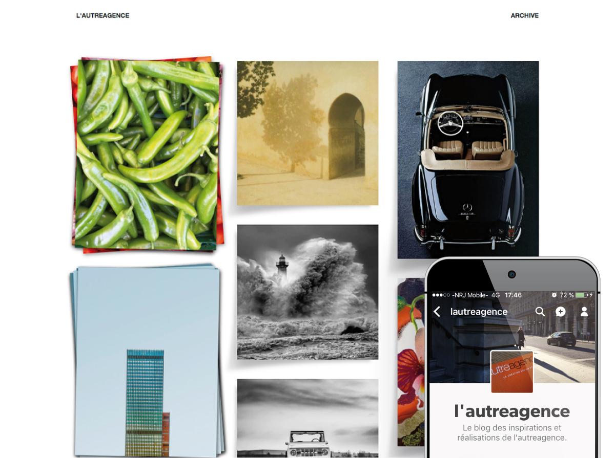 Image utilisée pour la page Community Management pour présenter le profil Tumblr de L'autreagence